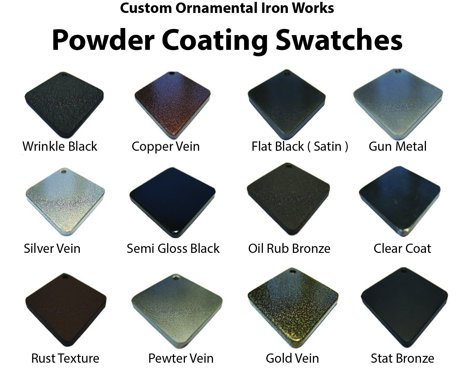 Powder Coating Sample Swatch